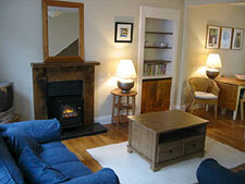 Lounge at Seashell self-catering cottage, Lower Largo, Fife, Scotland, UK